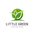 little green leaf logo and icon design vector image vector image