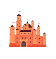 medieval fantasy fairytale castle towers vector image