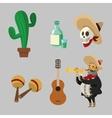 Mexican culture design vector image