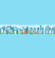 modern cityscape business district skyscrapers vector image vector image