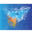 mosaic low poly design vector image vector image