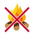 no bonfire firefighting item vector image