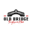 old bridge construction logo design vector image vector image