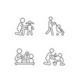 parental involvement linear icons set vector image vector image