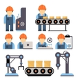 Production Process vector image vector image