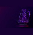 purple biotechnology genetic engineering vector image vector image