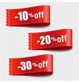 sale tags set transparent background vector image vector image