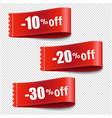 sale tags set transparent background vector image