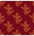Seamless pattern with magic fly dragon vector image