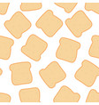 seamless pattern with toasted bread healthy food vector image