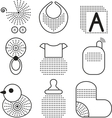 Set of black babys symbols vector | Price: 1 Credit (USD $1)