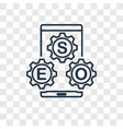 settings concept linear icon isolated on vector image