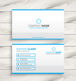 simple business card template vector image vector image