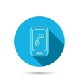 Smartphone icon Cellphone with touchscreen sign vector image vector image