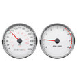 speedometer and tachometer white gauge set with vector image vector image