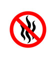strong flavors are forbidden symbol no bad smells vector image