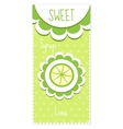 Sweet fruit labels for drinks syrup jam Lime vector image