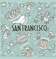 symbols of san fransisco vector image vector image
