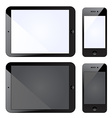 tablet PC with mobile smartphone vector image vector image