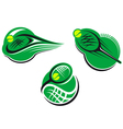 tennis sports icons vector image vector image