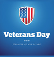 veterans day usa banner vector image vector image