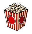 vintage colorful popcorn concept vector image