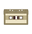 vintage retro audio cassette tape music sound vector image vector image
