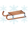 Vintage wooden sled vector image vector image