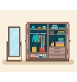 Wardrobe for cloths vector image vector image