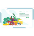 website template with giant vegetables truck and vector image vector image