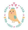 Cute bird print for kids vector image
