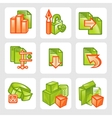 Business icons - set vector image