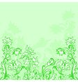 floral background green vector image