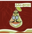 Mr pear vector image