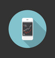 smart phone and charts icon vector image