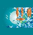 abstract boat fantasy at night fantasy vector image vector image