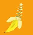 Banana Modified Gmo Genetically Chromosome vector image