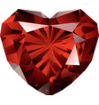 beautiful shiny red garnet on white background vector image