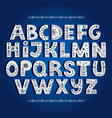 bold alphabet decorated with nordic folk ornaments vector image vector image