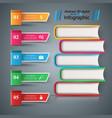 book read education - school infographic vector image