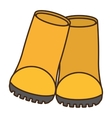 boots industrial protection work vector image vector image