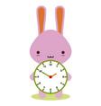 bunny clock vector image vector image