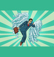 business angel businessman vector image vector image