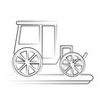 classic horse carriage vector image