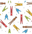 colorful various types of clothes pin pegs vector image vector image
