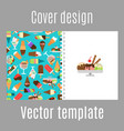 cover design with ice cream pattern vector image vector image