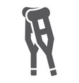 crutches glyph icon medicine and disability vector image