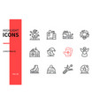 drones - modern line design style icons set vector image