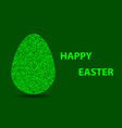 easter eggs and inscription vector image