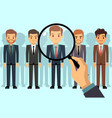 employer of choice candidate selection employees vector image vector image